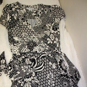 Short Sleeve Flower Dress